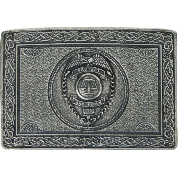 Protect and Serve Law Enforcement Belt Buckle