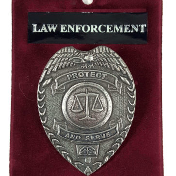 Protect and Serve Law Enforcement Cap Badge