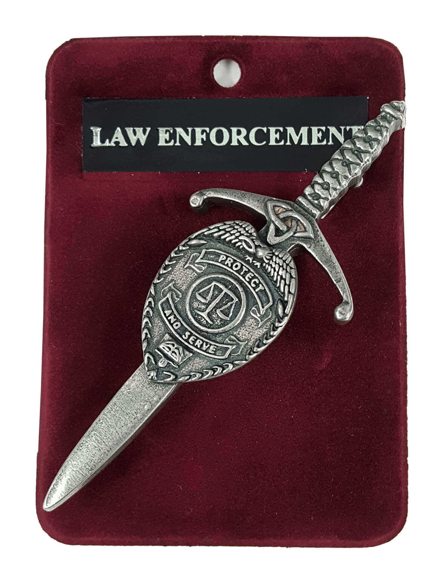 Protect and Serve Law Enforcement Kilt Pin