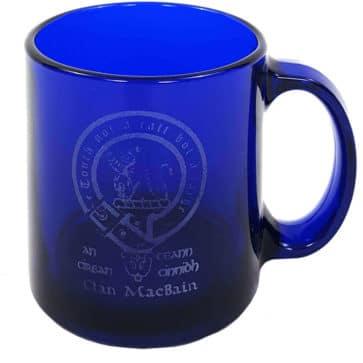 MacBain Clan Crest Engraved Coffee Mug