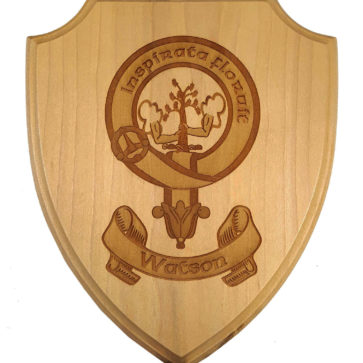 Watson Clan Crest Wooden Wall Plaque