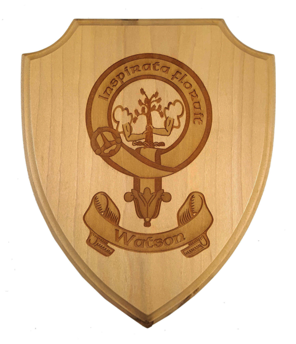 Watson Clan Crest Wooden Wall Plaque