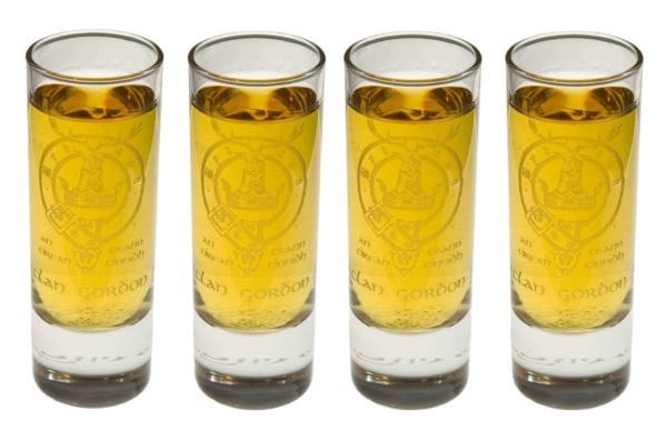 Clan Crest Tall Shot Glass Set of 4