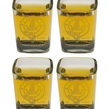 Clan Crest Shot Glass Set of 4