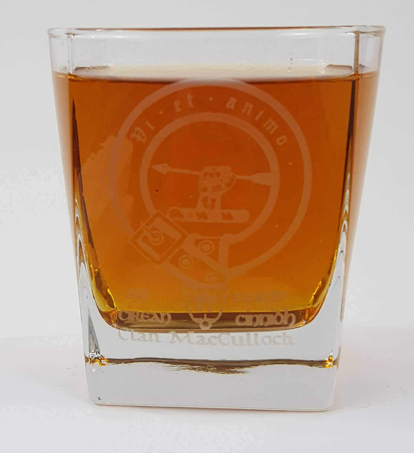 MacCulloch Clan Crest Whisky Glass