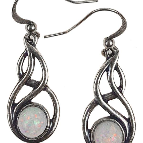 Celtic Knot Opal Earrings