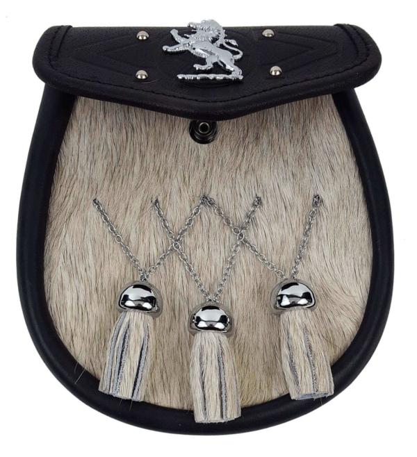 Rampant Lion Bovine Fur Premium Sporran
