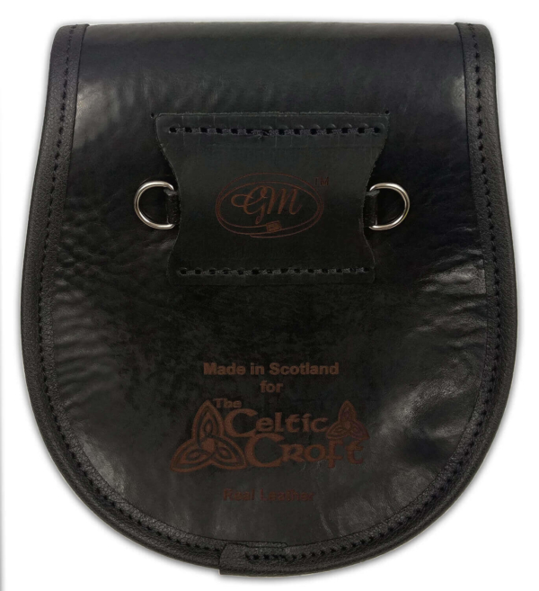 Stag Head Premium Leather Sporran