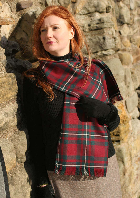 Old & Rare Premium Wool Tartan Scarves Set of 2