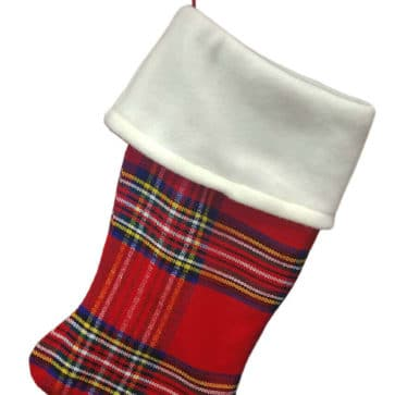 Medium Weight Premium Wool Tartan Stocking