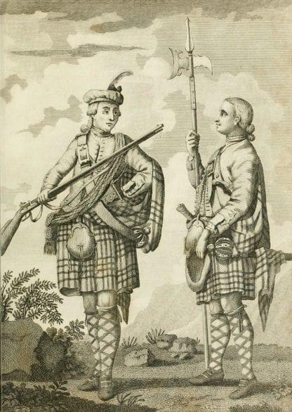 An Officer & Serjeant of a Highland Regiment. c.1740