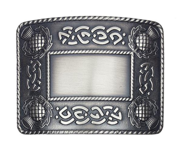 ABB-CL-1785 Celtic Thistle and Weave Kilt Belt Buckle