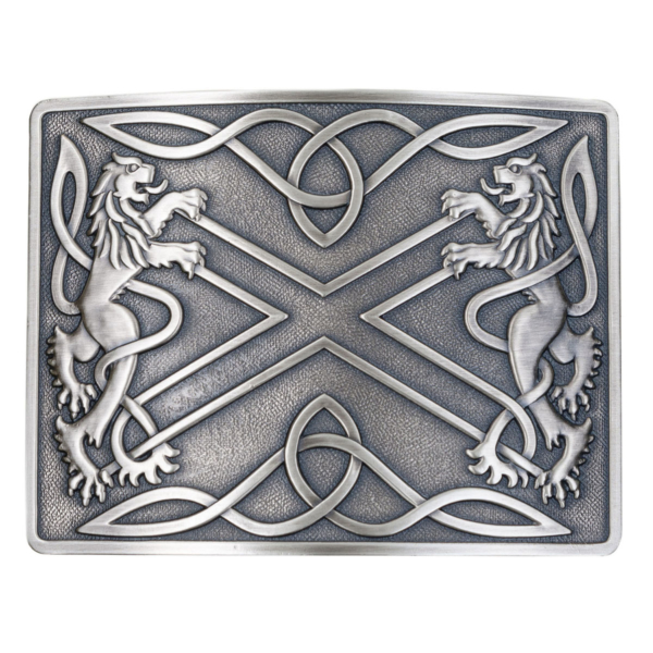 Saltire Antiqued Kilt Belt Buckle