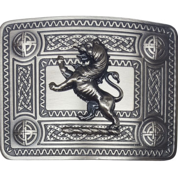 ABB61-CL-158 Celtic Knot Kilt Belt Buckle with Lion Mount