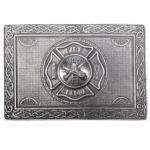US Firefighters Kilt Belt Buckle Front