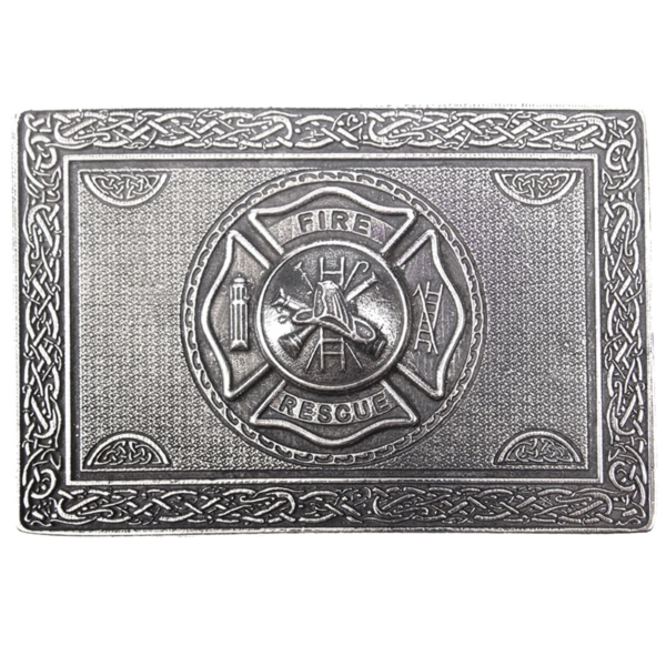 US Firefighters Kilt Belt Buckle Front