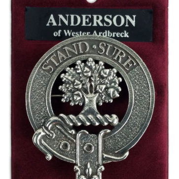 Anderson Clan Crest Cap Badge Brooch
