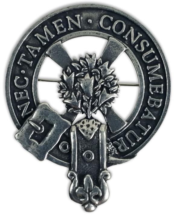 Clergy Clan Crest Cap Badge Brooch
