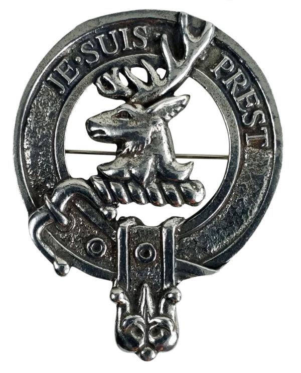 Fraser-Lovat Clan Crest Cap Badge Brooch