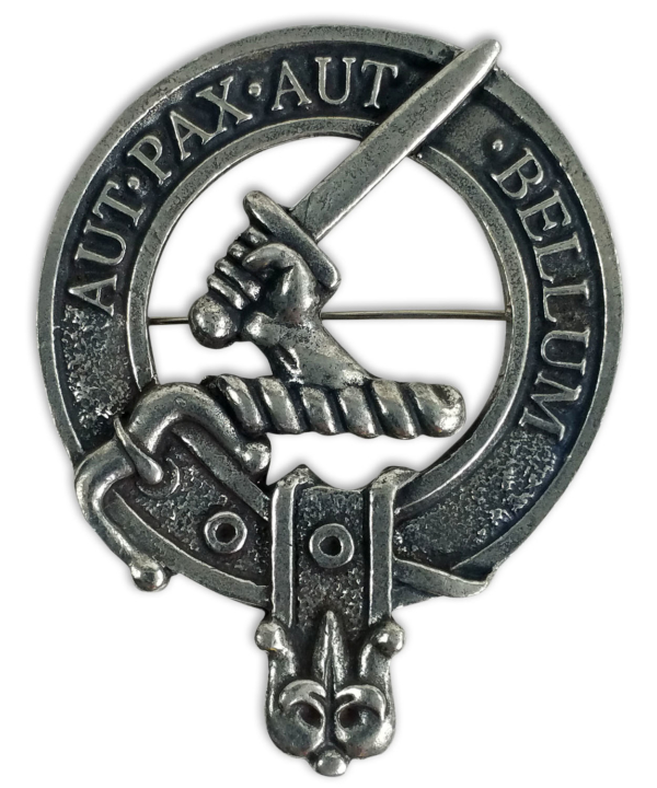 Gunn Clan Crest Cap Badge Brooch