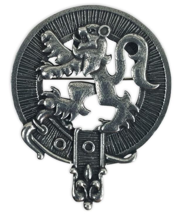 Lion Rampant Clan Crest Badge Brooch