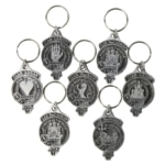 BRUCE Family of Clan Crest Tartan Colors Keychain Aluminum or Plastic Square Key Chain Scottish