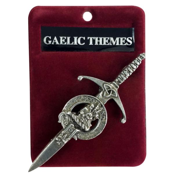 Pewter Clan Crest Kilt Pin Piper