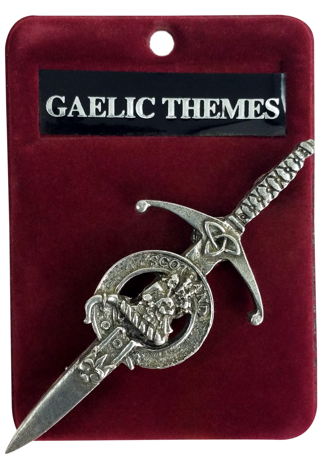 Pewter Clan Crest Kilt Pin Piper