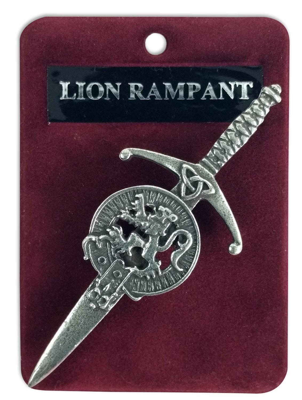 Rampant Lion Crest Kilt Pin/Brooch