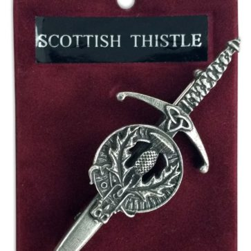 Scottish Thistle Crest Kilt Pin/Brooch
