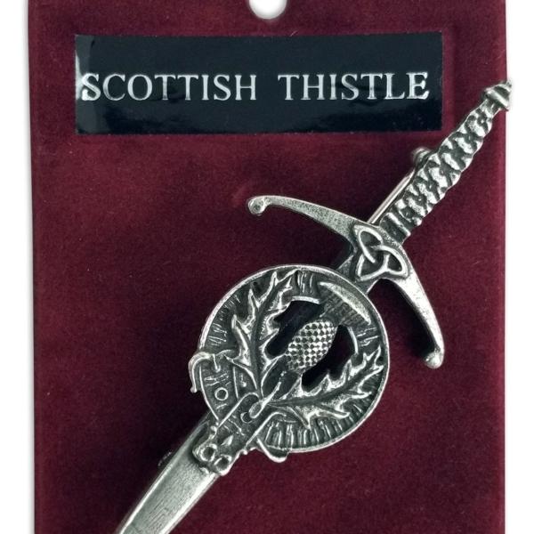 Scottish Thistle Crest Kilt Pin/Brooch