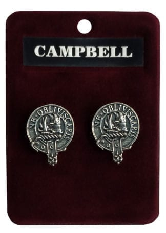 Clan Crest Cufflinks made in Scotland from good quality pewter.