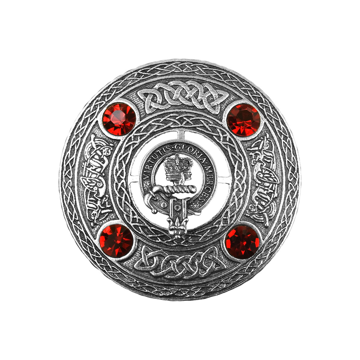 Mercer Clan Badge Scottish Plaid Brooch