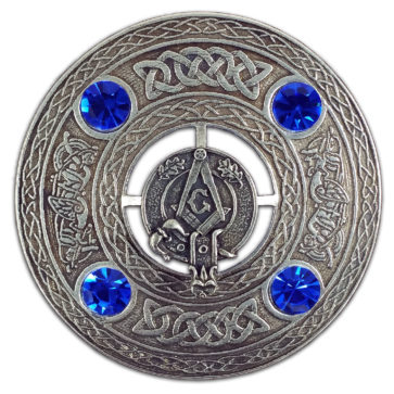 Masonic Plaid Brooch