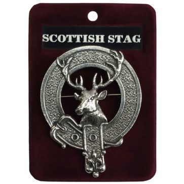 Scottish Stag Cap Badge