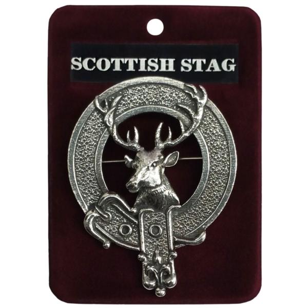 Scottish Stag Cap Badge