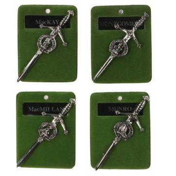 Clan Crest Kilt Pins