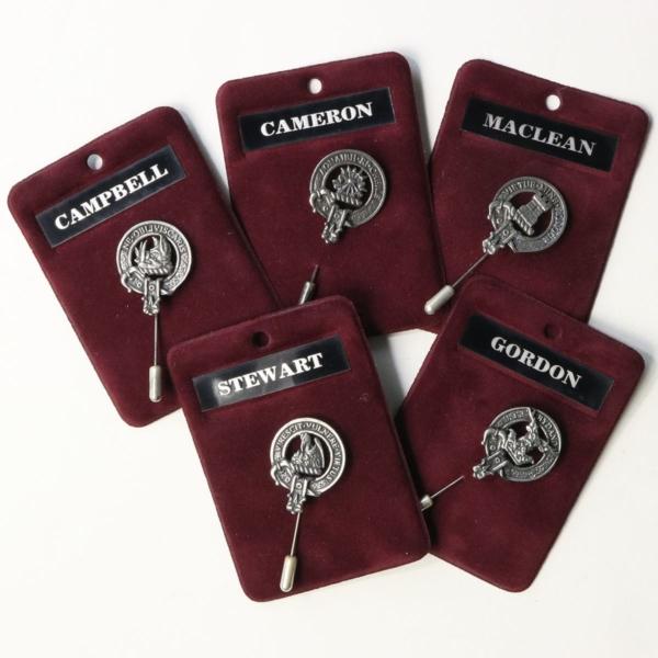 Clan Crest Lapel Pins