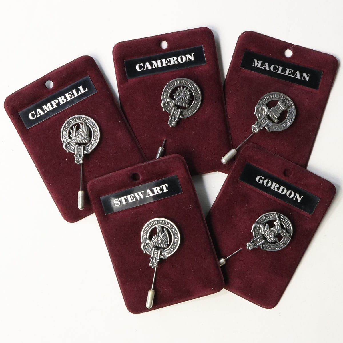 Dunlop Clan Crest Stick or Cravat pin Sterling Silver