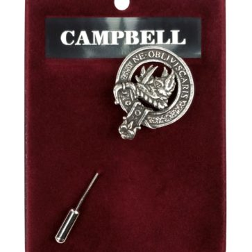 Clan Crest Pewter Lapel Pin