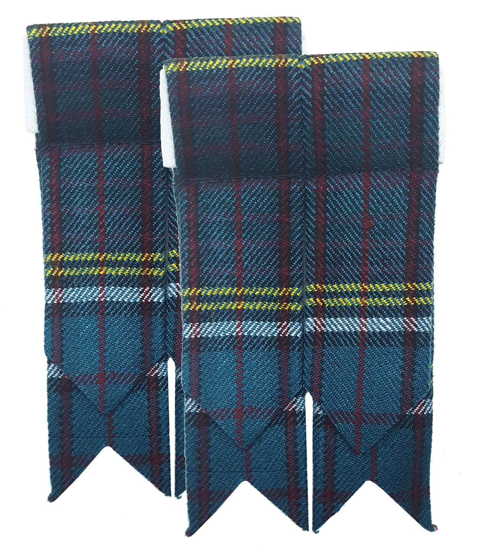 Burnett Modern Flashes Wool Blend Flashes Homespun Tartan Flashes