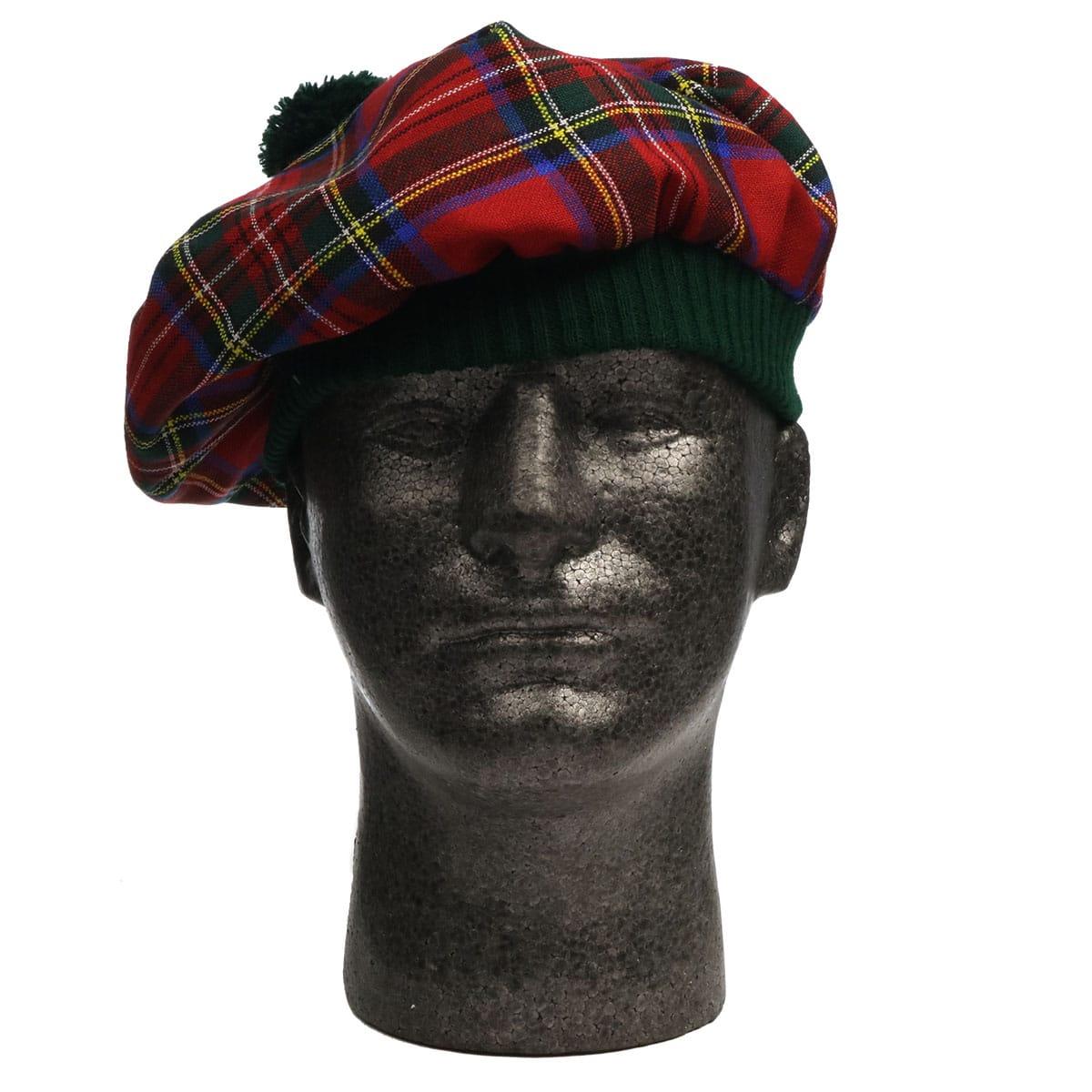 Stewart Royal Modern Spring Weight Tam. A red tartan Scottish hat