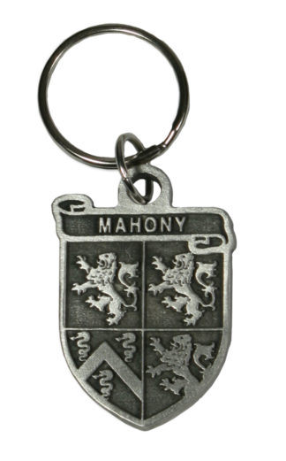Irish coat of arms key chain