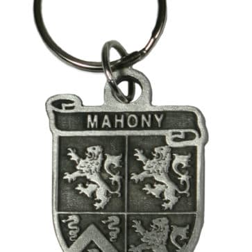 Irish coat of arms key chain