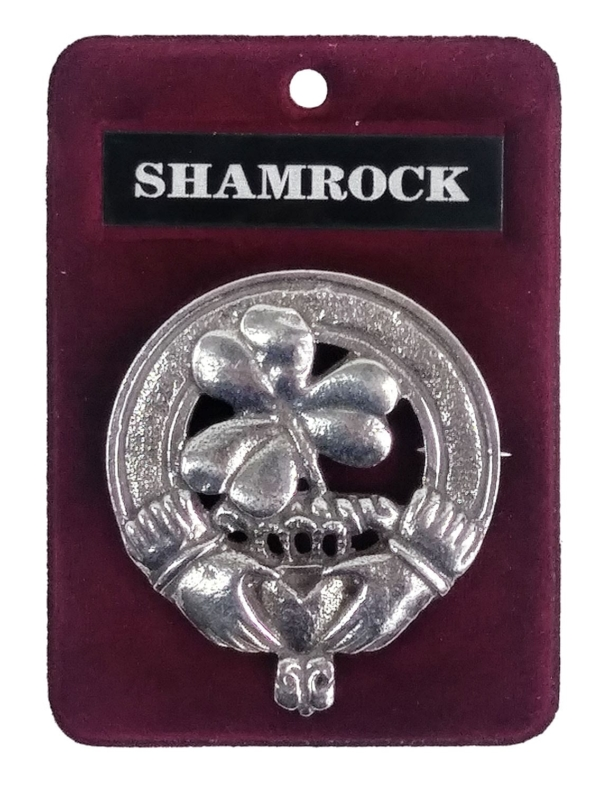 Shamrock Cap Badge/Brooch
