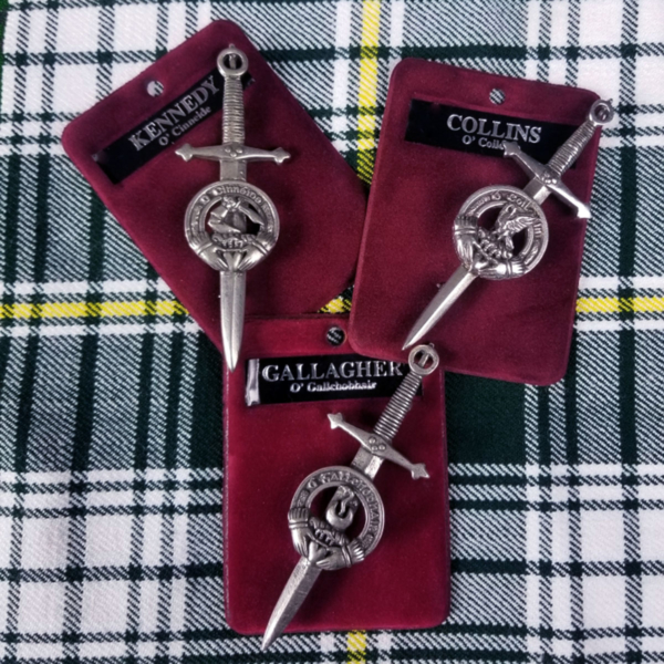 Irish Family Crest Kilt Pins