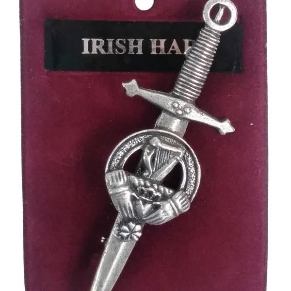 Irish Harp Cap Badge/Brooch