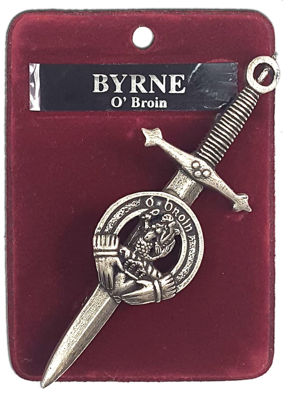 Irish Family Crest Kilt Pin