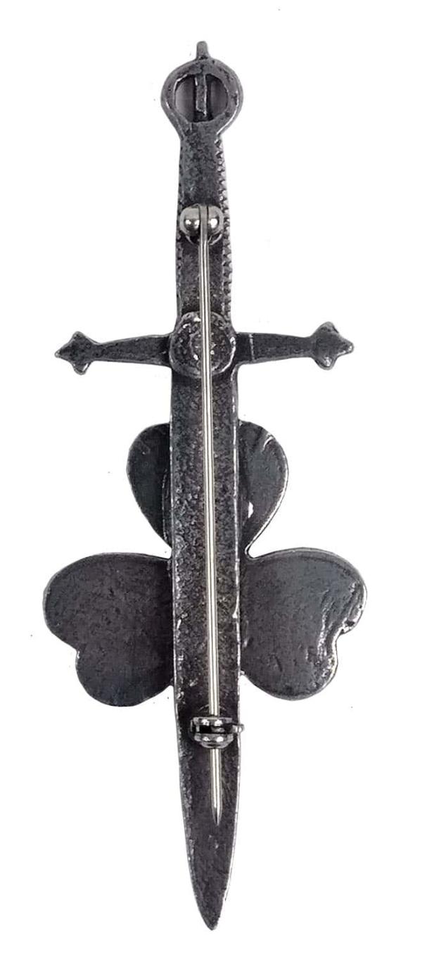 Shamrock Kilt Pin