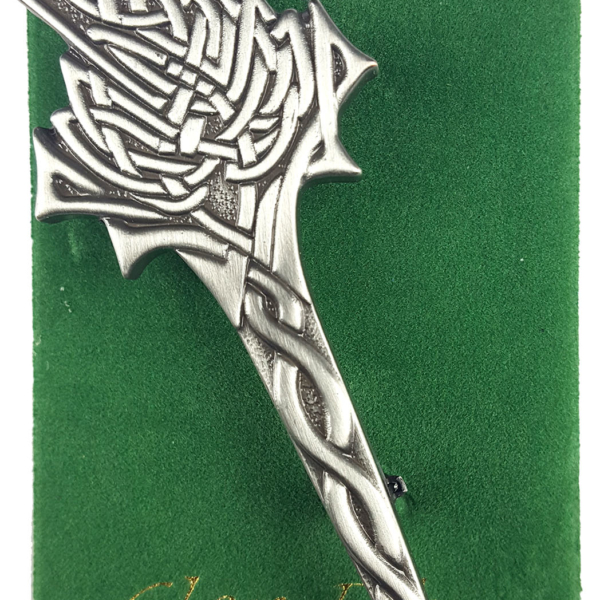 Antiqued Thistle Kilt Pin